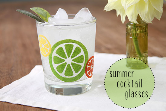 summer cocktail glasses