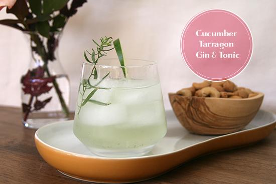 cucumber tarragon gin & tonic