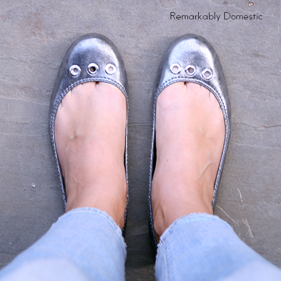 DIY Grommet Shoes